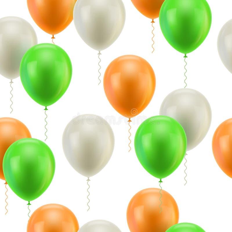 Fondo blanco coloreado de los globos inconsútil libre illustration
