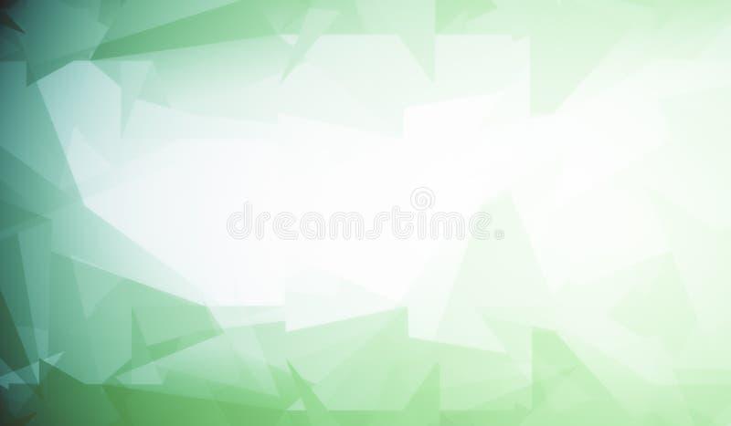 Fondo blanco con el modelo poligonal verde libre illustration