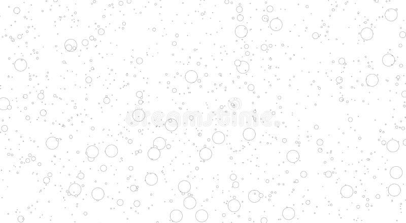 Fondo blanco con las burbujas burbujas grandes y peque?as de la mezcla ilustración del vector