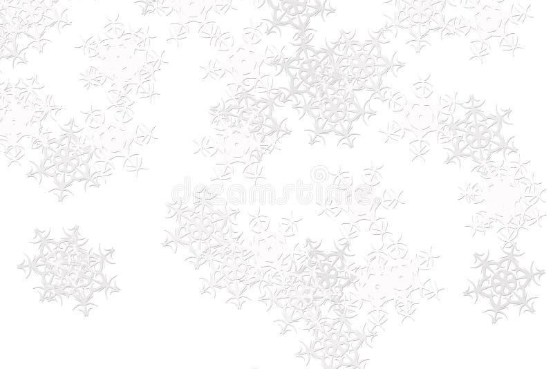 Fondo blanco con los copos de nieve blancos borrosos stock for Blanco nieve