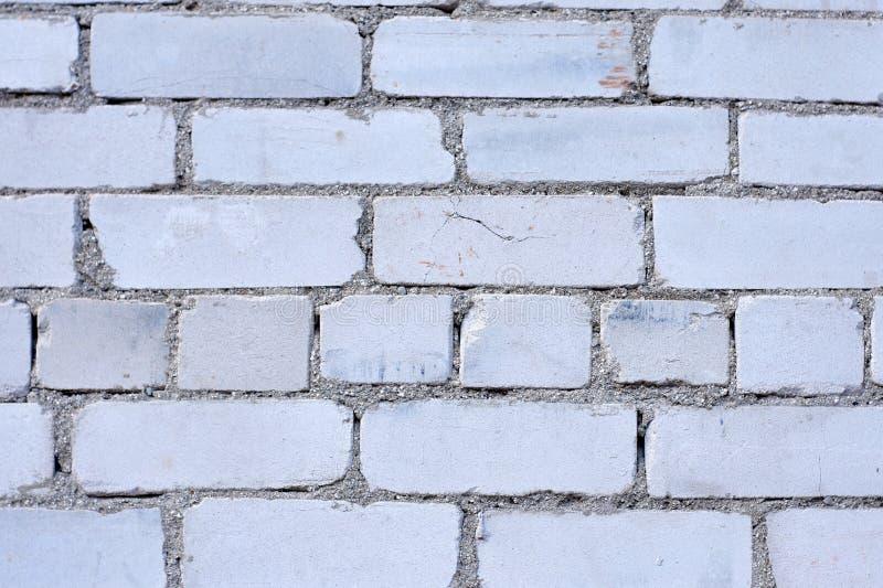 Fondo blanco de la pared de ladrillo en sitio rural, fotos de archivo libres de regalías