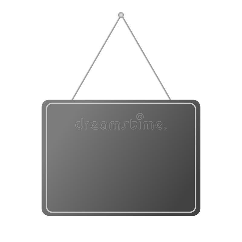 Fondo blanco de la puerta de la placa realista en blanco de la ejecución libre illustration