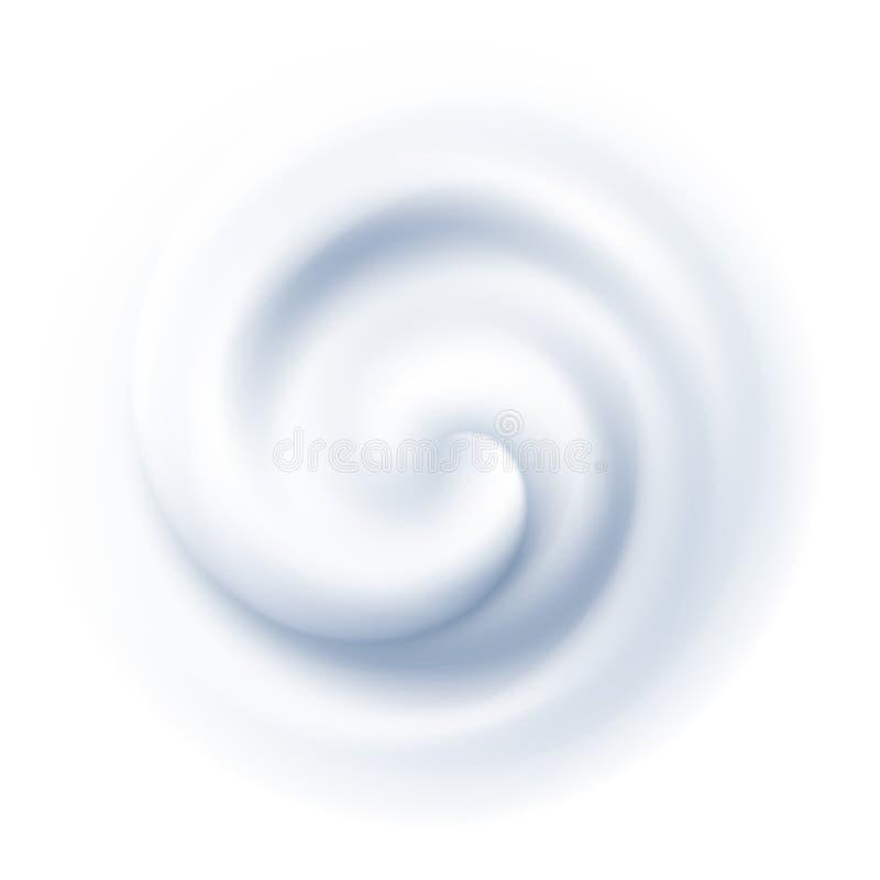 Fondo blanco de la textura de la crema del remolino Ilustración del vector ilustración del vector