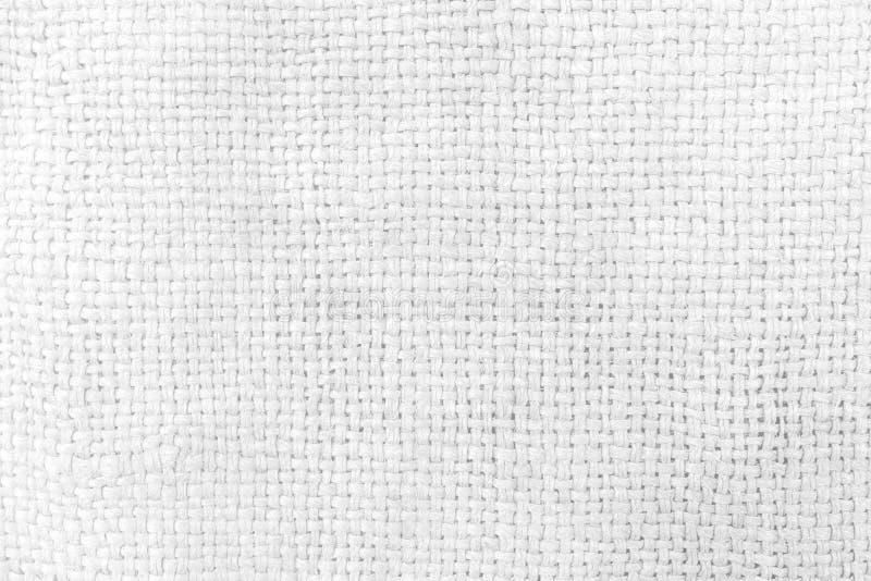 Fondo blanco de la textura del saco foto de archivo libre de regalías