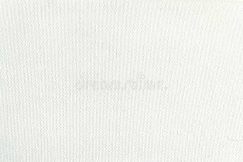 Fondo blanco de la textura de la lona para la pintura y el dibujo del arte fotografía de archivo libre de regalías