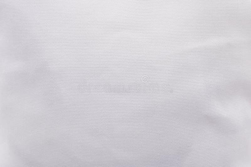 Fondo blanco de la textura de la tela Modelo en blanco del material de materia textil del paño fotos de archivo libres de regalías