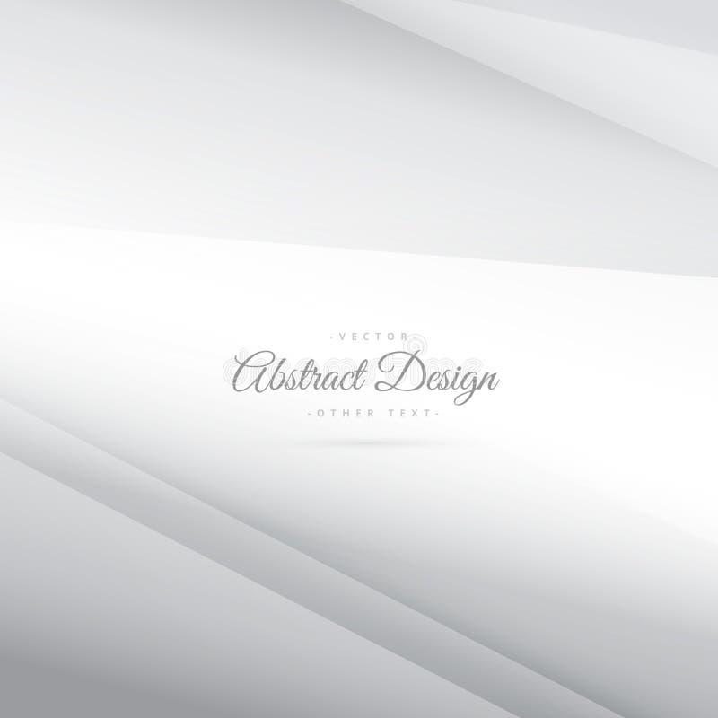Fondo blanco de plata mínimo del vector elegante ilustración del vector