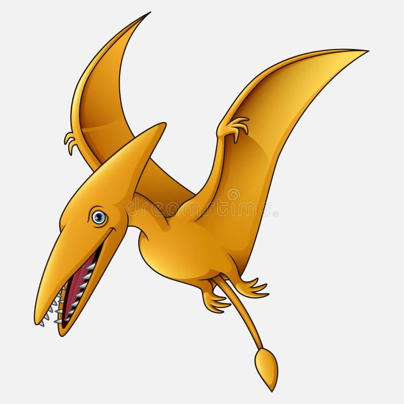Fondo blanco de Pterosaurs de la historieta ilustración del vector
