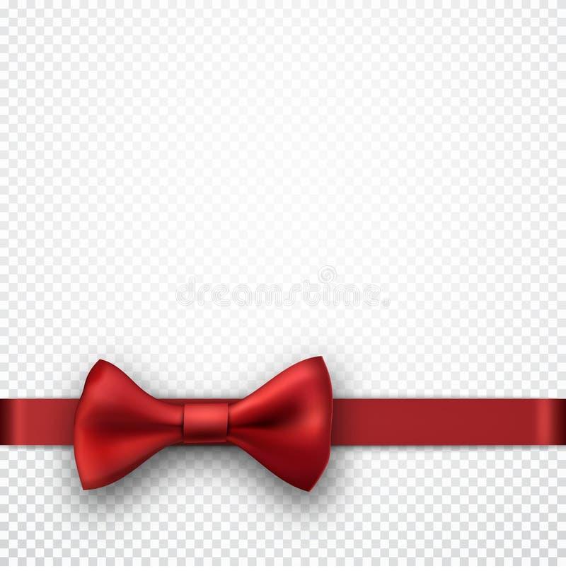 Fondo blanco del día de fiesta con el arco rojo stock de ilustración