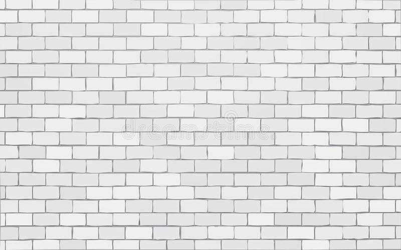 Fondo blanco del ejemplo del vector de la pared de ladrillo libre illustration