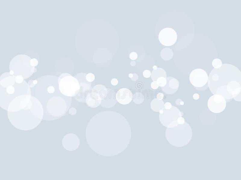 Fondo blanco del extracto de la falta de definición luces de la Navidad brillantes hermosas borrosas la Navidad del bokeh stock de ilustración