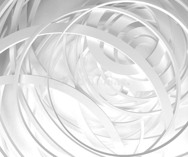 Fondo blanco del extracto del círculo ilustración del vector