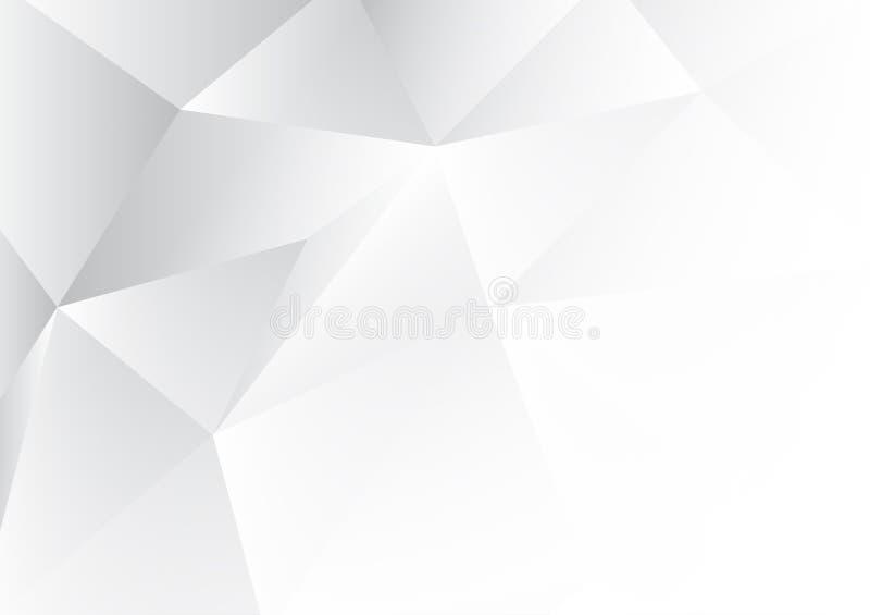 Fondo blanco del extracto del polígono con el espacio de la copia Ilustración del vector libre illustration