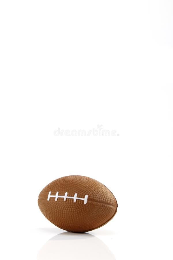 Fondo blanco del fútbol americano, primer imagen de archivo