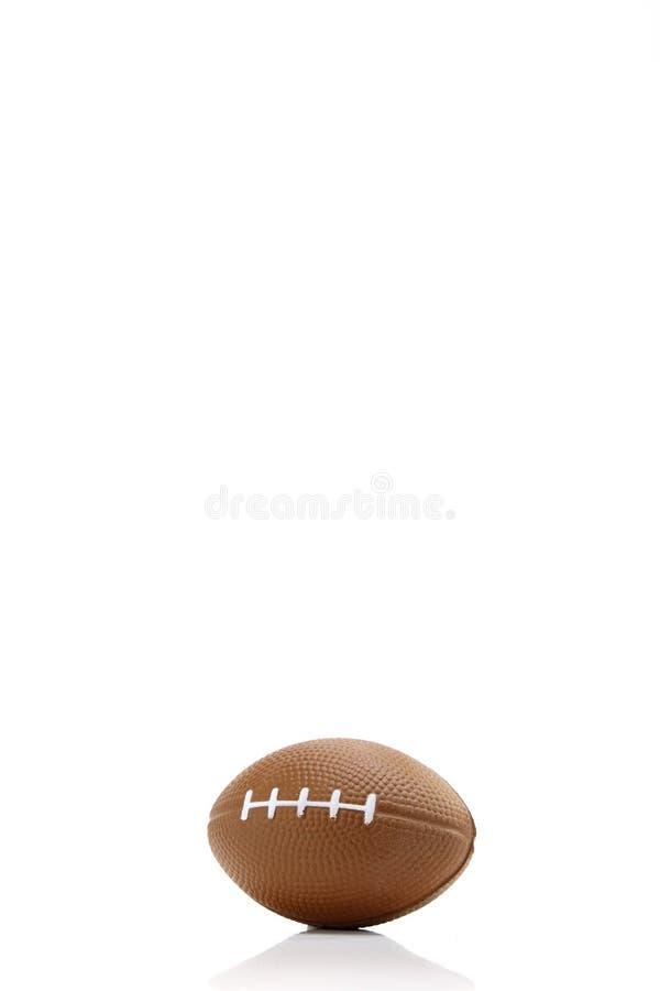 Fondo blanco del fútbol americano, primer foto de archivo