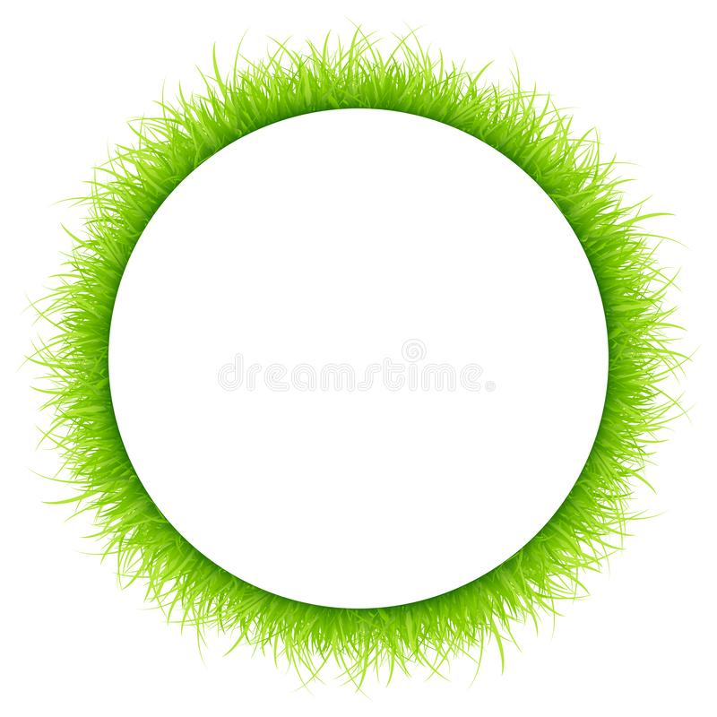 Fondo blanco del marco del verde alturas redondas del prado de diversas libre illustration
