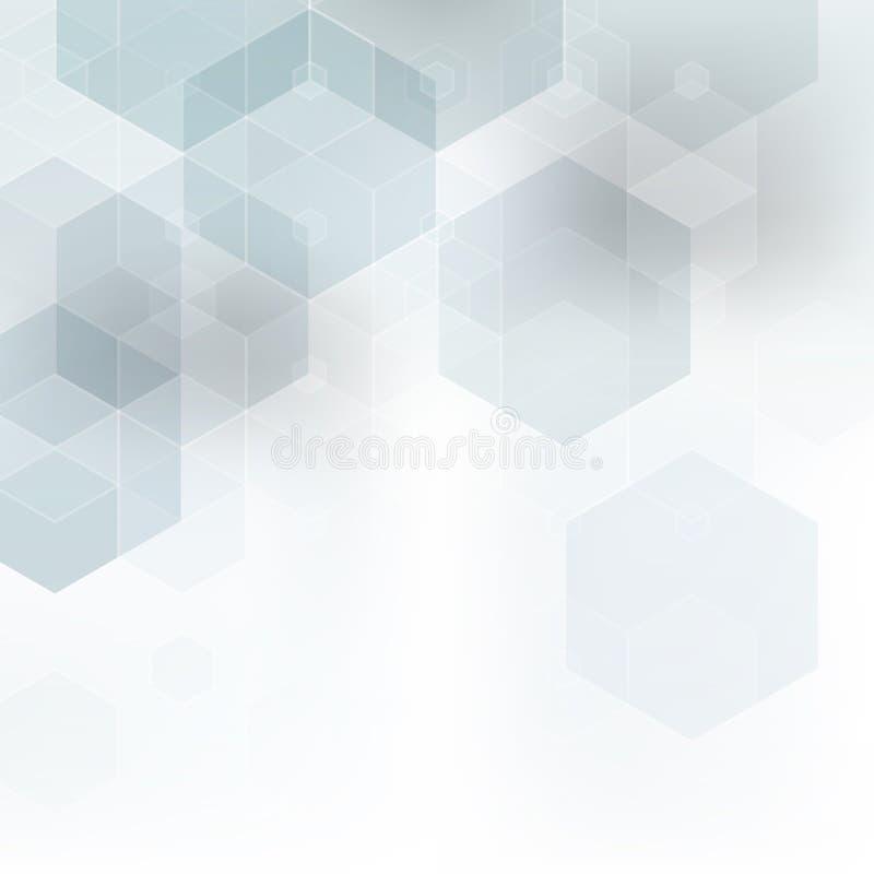 Fondo blanco del vector y gris elegante abstracto Modelo blanco abstracto Textura de los cuadrados ilustración del vector
