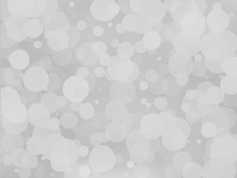 Fondo blanco grisáceo de la pendiente con efecto del bokeh Modelo borroso extracto Ejemplo transparente traslapado del vector de  stock de ilustración