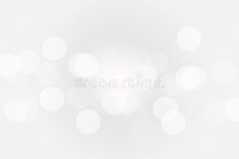 Fondo blanco gris de plata del bokeh con luz del sol radial en el centro libre illustration