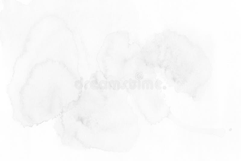 Fondo blanco-gris hermoso de la acuarela - la acuarela pinta o ilustración del vector