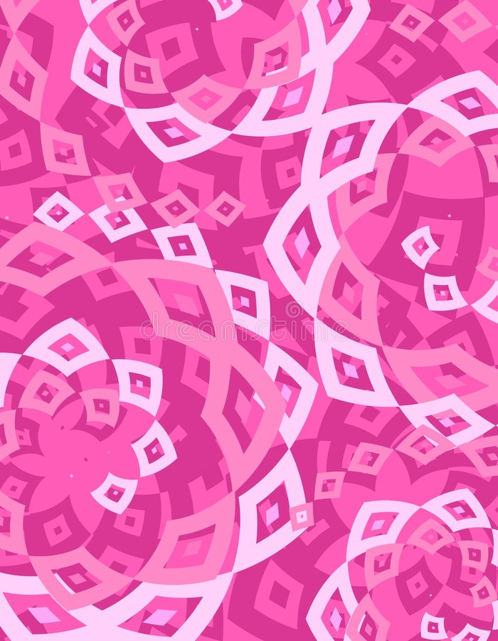 Fondo blanco rosado retro de los diamantes stock de ilustración