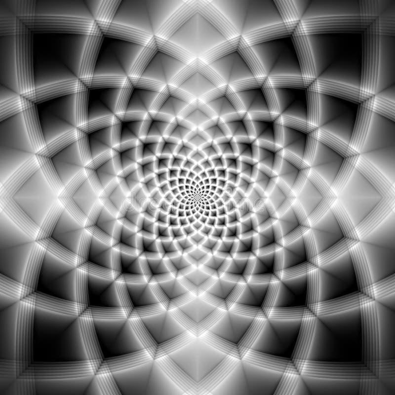 Fondo blanco y negro abstracto del fractal stock de ilustración
