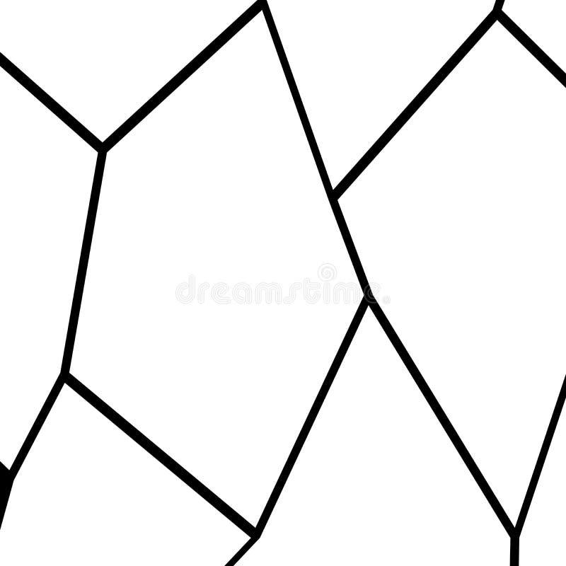 Fondo Blanco Y Negro De La Fragmentación Ilustración del Vector ...