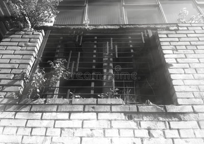 Fondo blanco y negro de la ventana del grunge imagenes de archivo