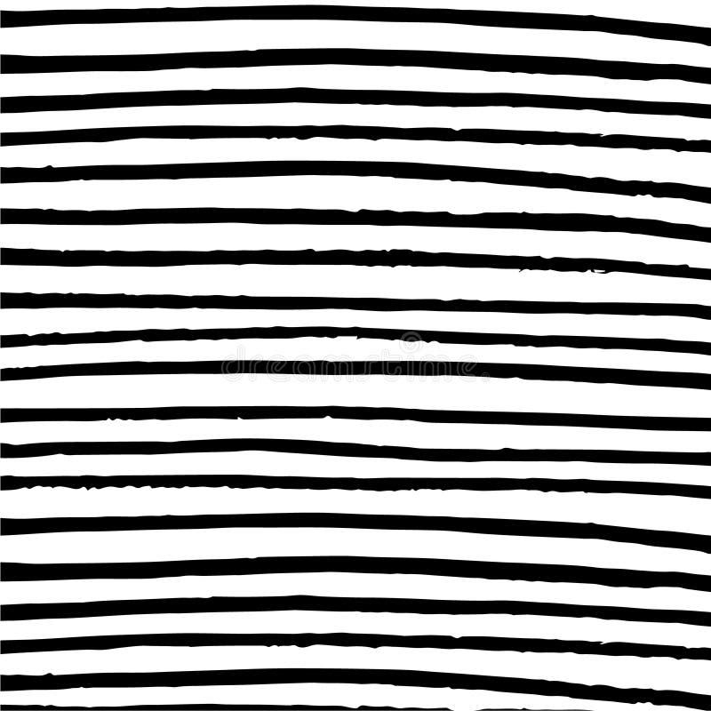 Fondo blanco y negro de las rayas horizontales minimalistas ilustración del vector