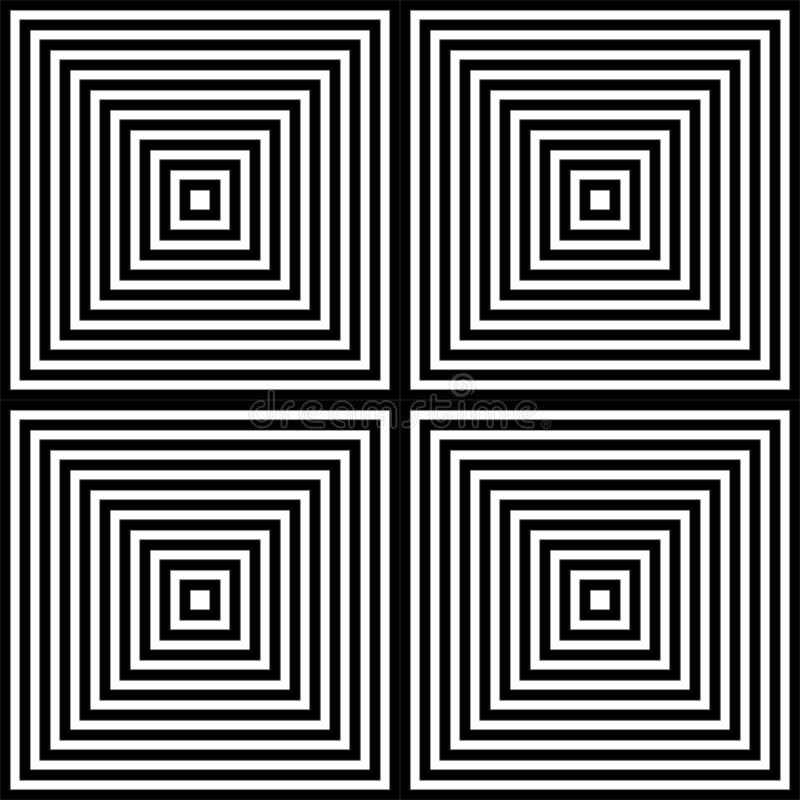 Fondo blanco y negro del modelo geométrico de la capa stock de ilustración