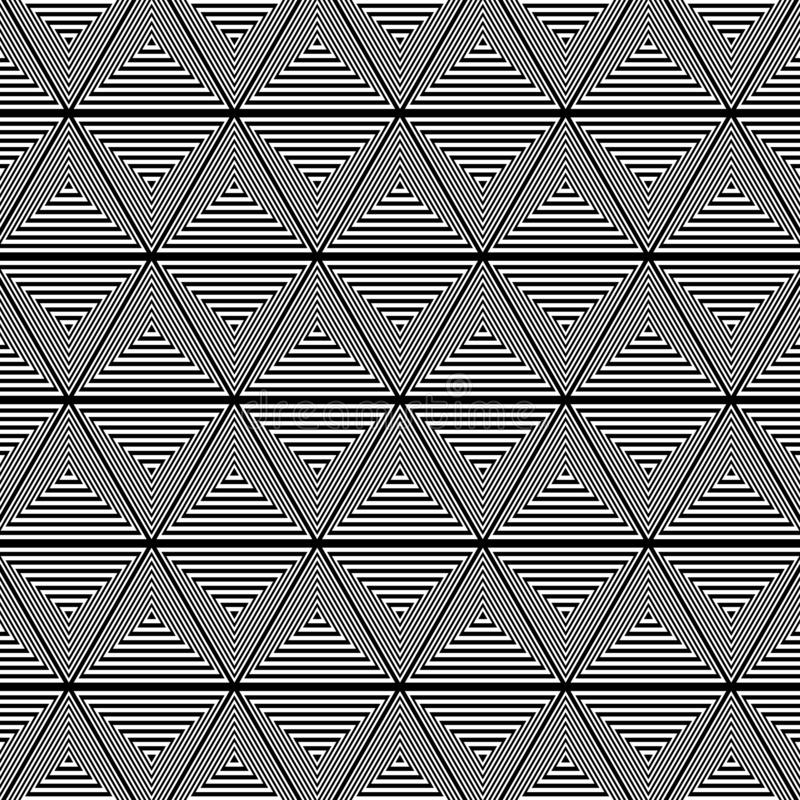 Fondo blanco y negro del modelo del triángulo libre illustration