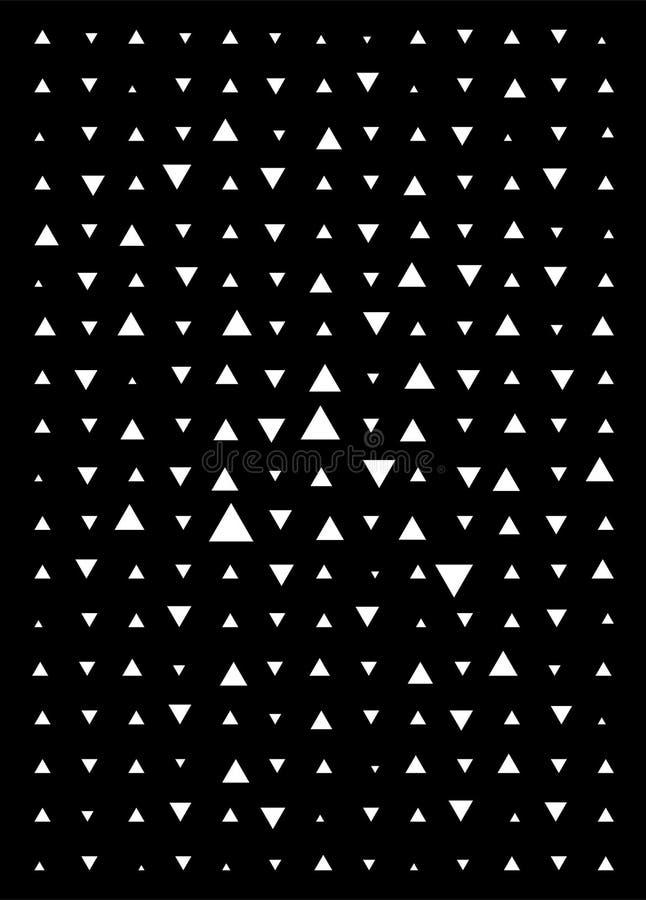 Fondo blanco y negro del triángulo Modelo moderno del vector con los triángulos blancos en fondo negro ilustración del vector