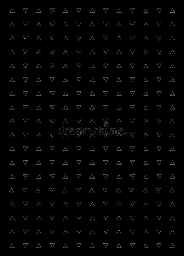 Fondo blanco y negro del triángulo Modelo moderno del vector con los triángulos blancos en fondo negro stock de ilustración