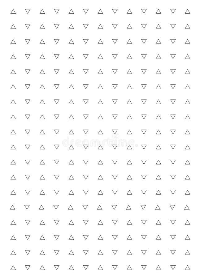 Fondo blanco y negro del triángulo Modelo moderno del vector con los triángulos negros en el fondo blanco ilustración del vector