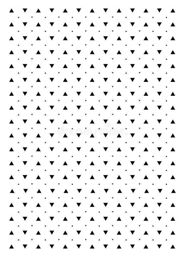 Fondo blanco y negro del triángulo Modelo moderno del vector con los triángulos negros en el fondo blanco libre illustration