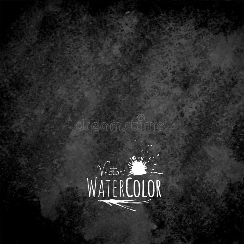 Fondo blanco y negro dibujado mano abstracta de la acuarela del vector libre illustration