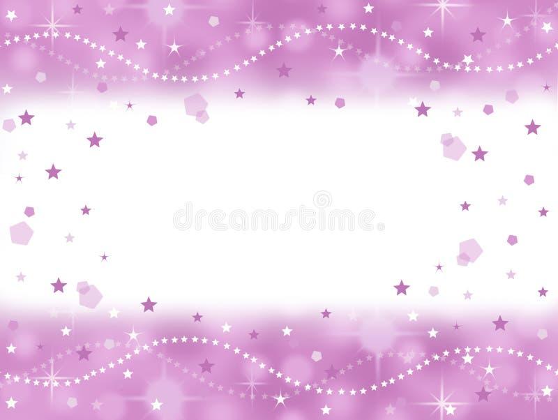 Fondo bling del partido de la princesa rosada con el espacio en blanco stock de ilustración