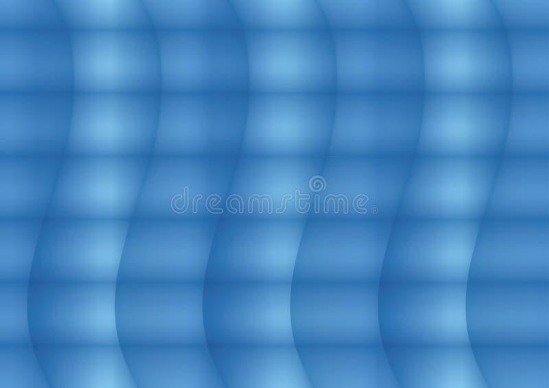 Fondo blu astratto con le onde leggere e scure royalty illustrazione gratis