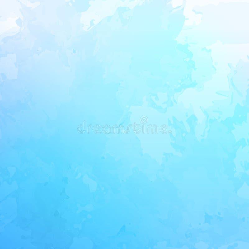 Fondo blu astratto dell'acquerello di vettore illustrazione di stock