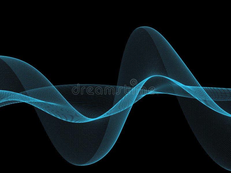 Fondo blu astratto dell'onda di flusso fotografia stock libera da diritti