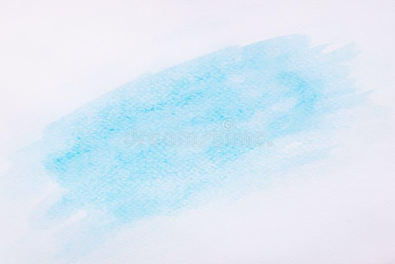 Fondo blu astratto della pittura della mano di arte dell'acquerello nell'alta risoluzione immagini stock libere da diritti