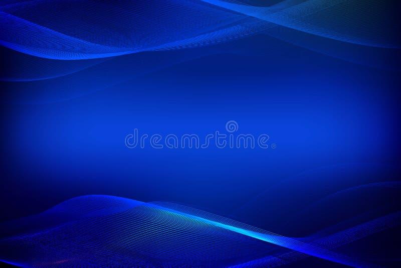 Fondo blu astratto delle linee d'ardore illustrazione vettoriale