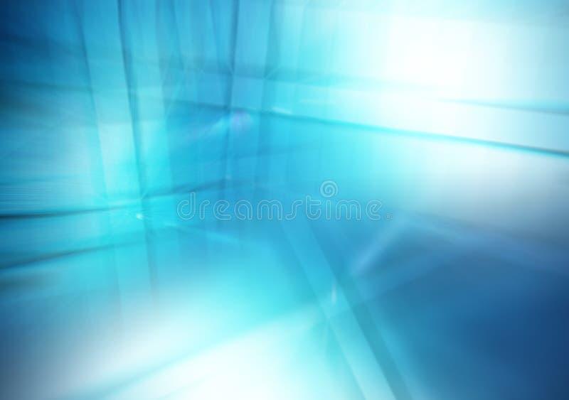 Fondo blu astratto delle linee e delle riflessioni, tema di affari fotografia stock