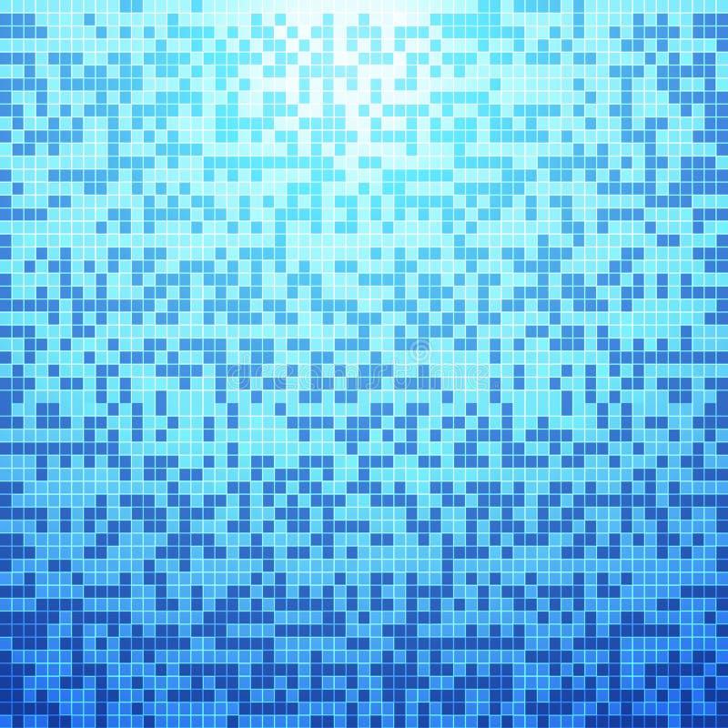Fondo blu astratto delle mattonelle royalty illustrazione gratis