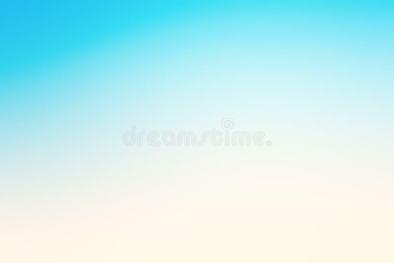 Fondo blu astratto di effetto con l'umore della spiaggia di estate fotografia stock libera da diritti