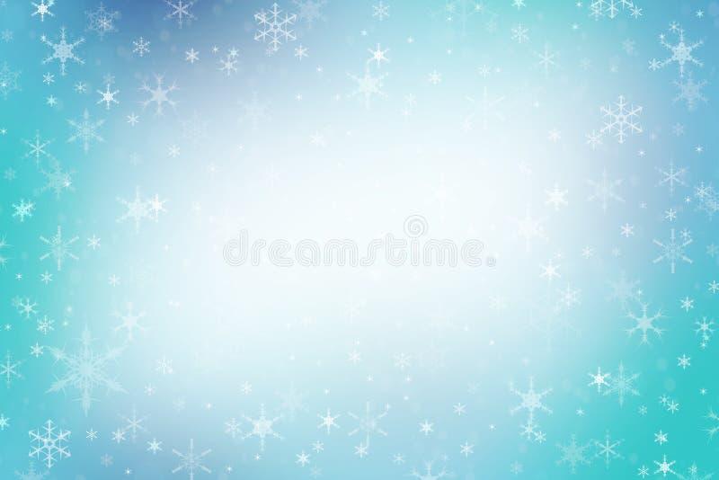 Fondo blu astratto di inverno di Natale royalty illustrazione gratis