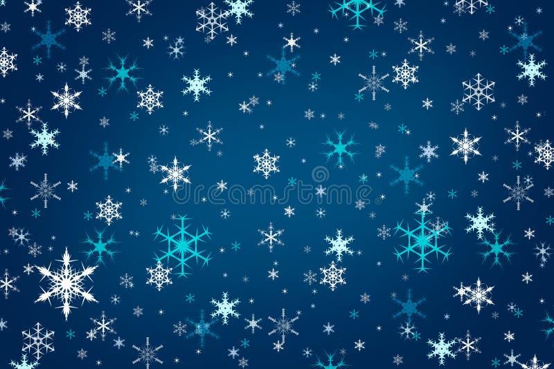 Fondo blu astratto di inverno di Natale fotografia stock libera da diritti
