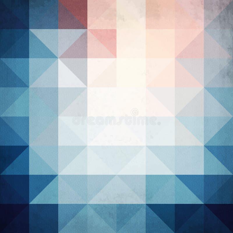 Fondo blu astratto di vettore della geometria dei triangoli illustrazione vettoriale