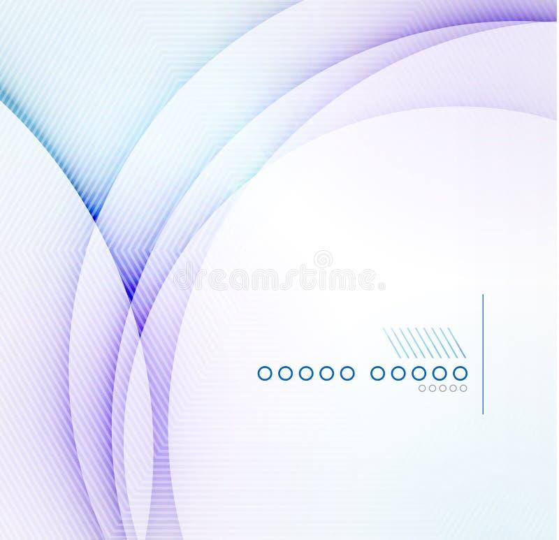 Fondo blu astratto di vettore della sfuocatura dell'onda royalty illustrazione gratis