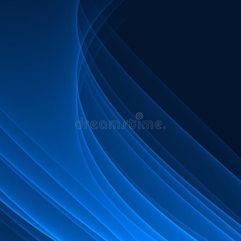 Fondo blu astratto Linee blu luminose Modello geometrico nei colori blu illustrazione vettoriale